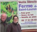Jean-Yves Bourven & sa fille Florence – La ferme de Saint-Laurent
